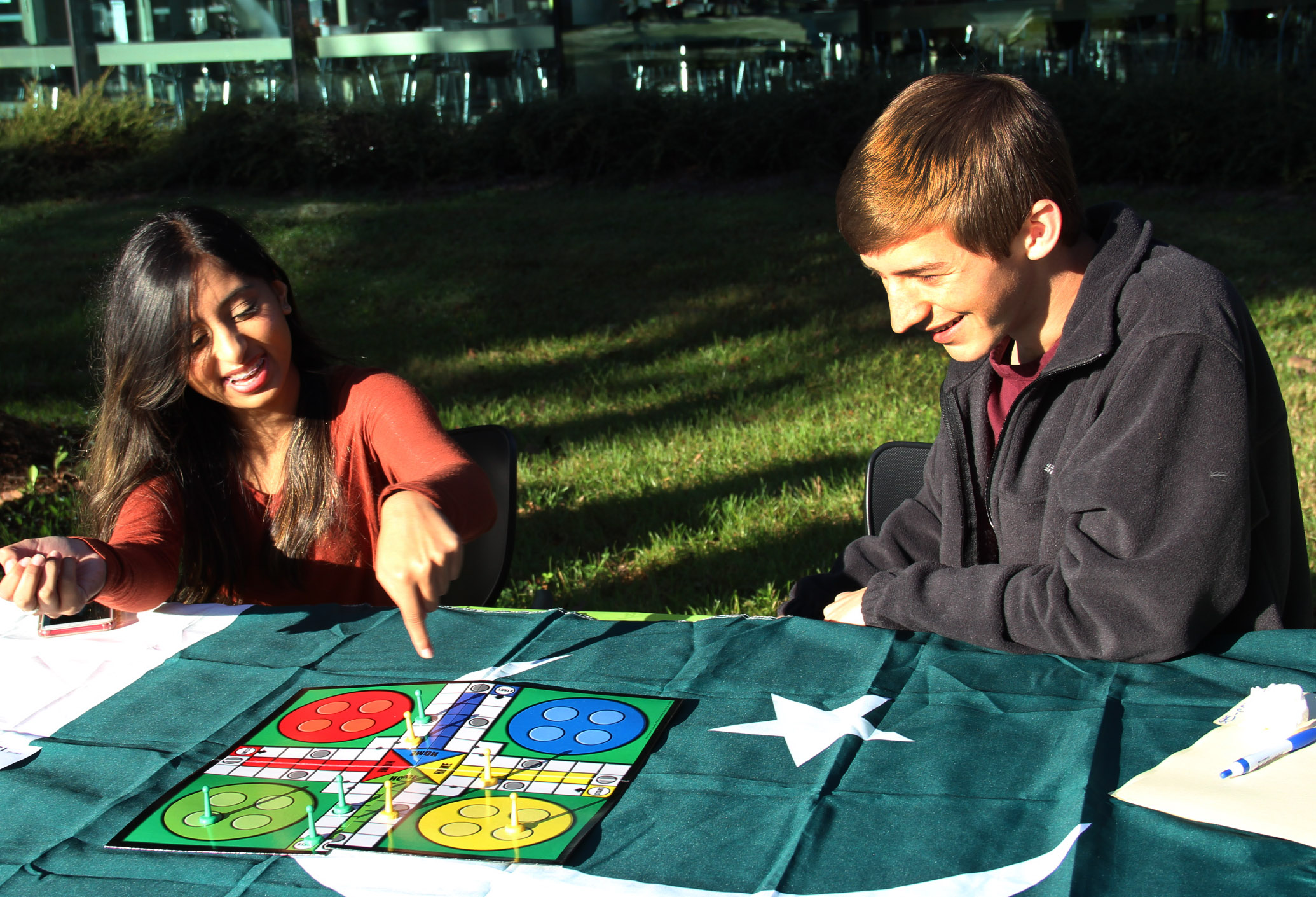 students playing a game outside - inclusion
