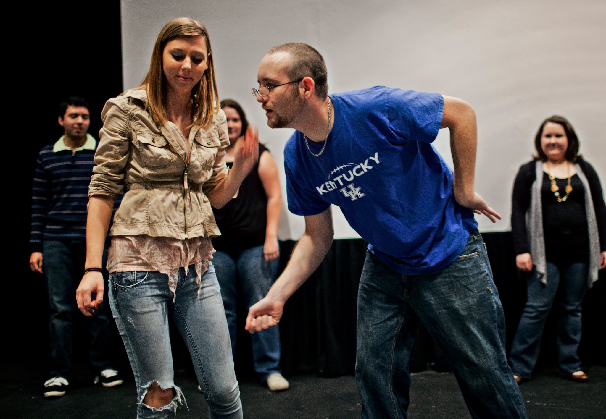 Students in an acting class