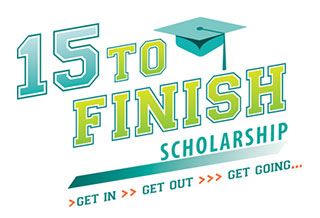 15 to finish scholarship logo