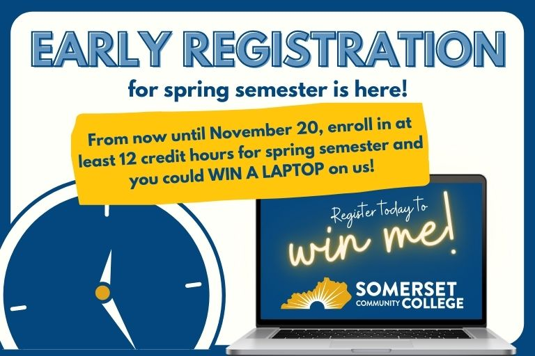 early registration for spring is here
