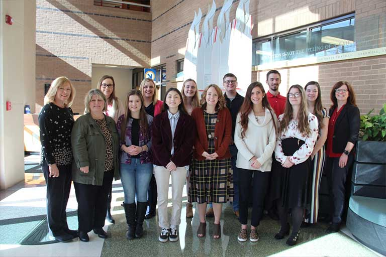 students and mentors of the honors program at scc