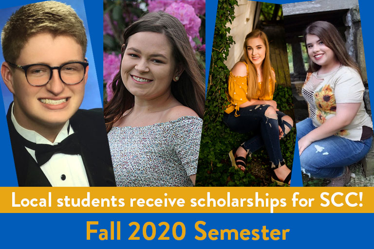 students receiving scholarships for fall 2020 semester