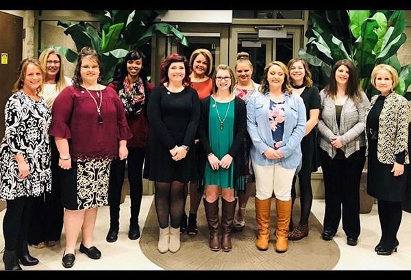 fall 2018 medical assisting graduates at the pinning ceremony on laurel campus