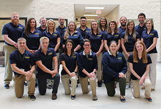 group of physical therapist assistant students who will be the class of 2018